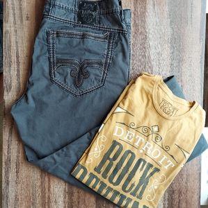 Mens Rock Revival Jeans & Shit